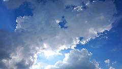 cloudy blue sky - stock photo