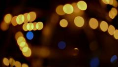 Gold and Blue Bokeh Stock Footage