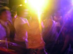 Young people party dance in light Kuvituskuvat