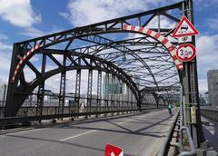metal bridge structure - stock photo