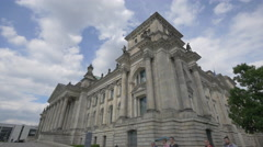 The beautiful Reichstag building in Berlin Stock Footage