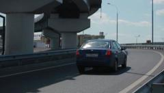 Road in Moscow Stock Footage