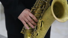 Man playing saxophone Stock Footage