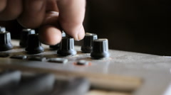 Pressing buttons - stock footage