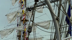 Sail 2015 Bremerhaven 041HD windjammer sails and rigging Stock Footage