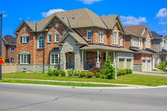 Luxury houses in North America Stock Photos