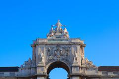 Commerce Square is located in the city of Lisbon, Portugal. - stock photo