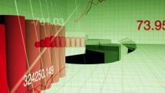 Financial graph background Stock Footage