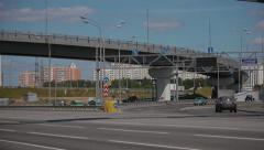 The Moscow Ring Road Stock Footage