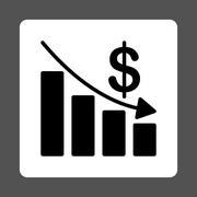 Stock Illustration of Recession Icon