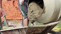 Concrete mixer with cement Stock Footage