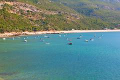 Stock Photo of beach bay in Portinho da Arrabida, Portugal
