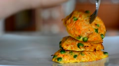 Healthy vegetarian carrot cakes Stock Footage