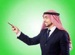 Arab businessman against the gradient Stock Photos