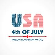 Stock Illustration of Stylish American Independence Day greeting stock vector