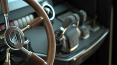 Cockpit of a luxury yacht Stock Footage