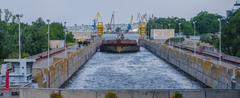 Stock Photo of cargo barge bulk