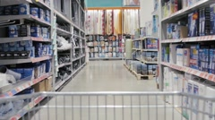 Shopping in chain stores OBI Stock Footage