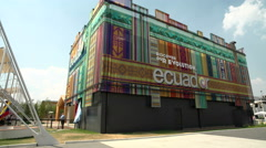 Ecuador pavilion at Expo Milano 2015 Stock Footage