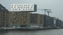 View of Hotel nhow Berlin in Berlin Stock Footage