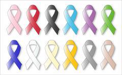 Awareness Ribbons - stock illustration