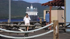 Ketchikan Cityscape, Meeting the ship Stock Footage