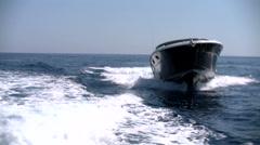 Fancy sport boat navigating Stock Footage
