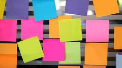 Blank post it on the wall Stock Photos