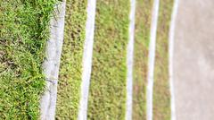 Grass steps design in landscape park Stock Photos