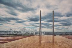 Ocean Pier on Stormy Day Kuvituskuvat