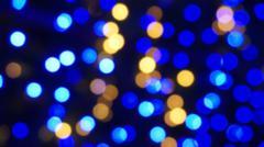 blur blue light illuminated abstract background - stock photo
