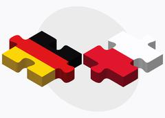 Stock Illustration of Germany and Poland Flags