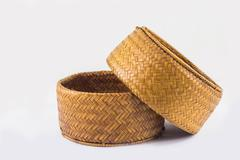 Stock Photo of Background of object, Rice Kratib it handicraft from Thailand.