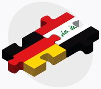 Stock Illustration of Germany and Iraq Flags