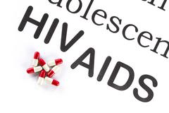 Reproductive health by Adolescent, AIDS, HIV, medication sickness - stock photo