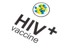 Science research by HIV Oral vaccine capsule, aids Stock Photos