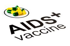 Science research by AIDS Oral vaccine capsule, HIV Stock Photos