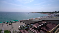 Panoramic view of the beach in Soverato Stock Footage