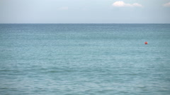 Perfect blue sea with long waves Stock Footage