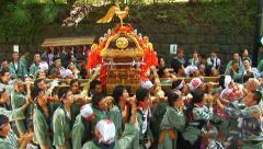 Japanese festival. Matsuri. Annual festival. Celebrate. Tokyo - stock footage