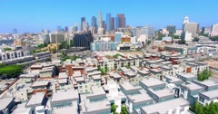 4K, Aerial View Of Los Angeles Downtown, Part 1(See Description For Part2 And 3) Stock Footage