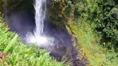 Akaka Falls close up of splash Stock Footage