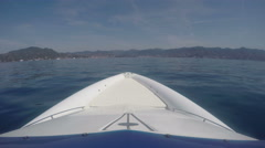 View of the bow of a RIB navigating Stock Footage