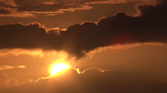 Beautiful Sunrise Reveal From Morning Cloudscape Stock Footage