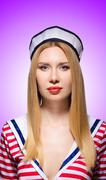 Stock Photo of Woman in sailor costume  - marine concept