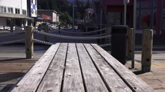 Ketchikan Cityscape, Morning rush hour Stock Footage