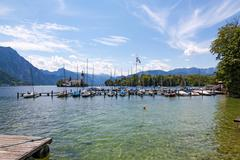 Traunsee, Castle Ort, Gmunden - stock photo