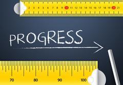 Measuring Progress - stock photo