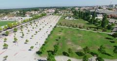 """Aerial view of """"Parque da Cerca"""" Stock Footage"""
