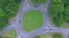 Aerial view of a traffic driving along motorway Stock Footage
